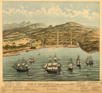 Вид Сан-Франциско 1846-7 Карта Классический Урожай Ретро Крафт Декоративные…