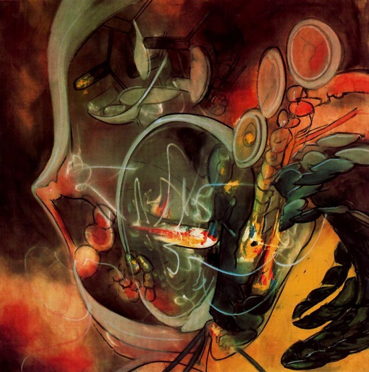 Roberto Matta (chile)~  Hmmm what is going on here....I find it hard not to look at this