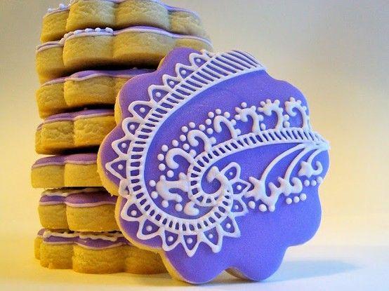 henna cookies | MEHNDI {HENNA} INSPIRED WEDDING COOKIES