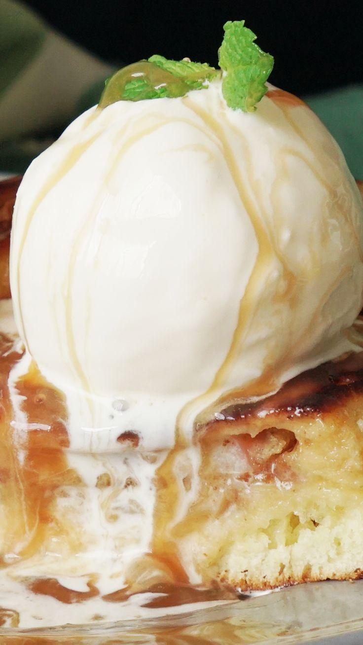 Peanut Butter Apple-Stuffed Pancakes