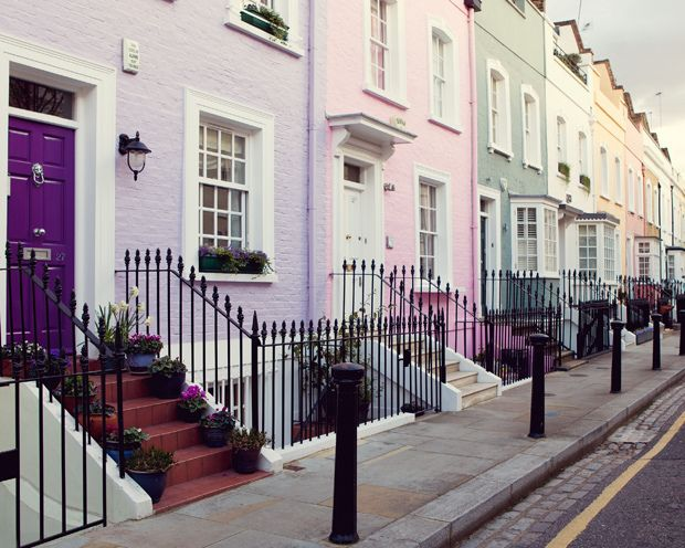 Notting Hill street - London by © Irene Suchocki via ysvoice : fuckitandmovetolondon : britain-land-of-hope-and-glory
