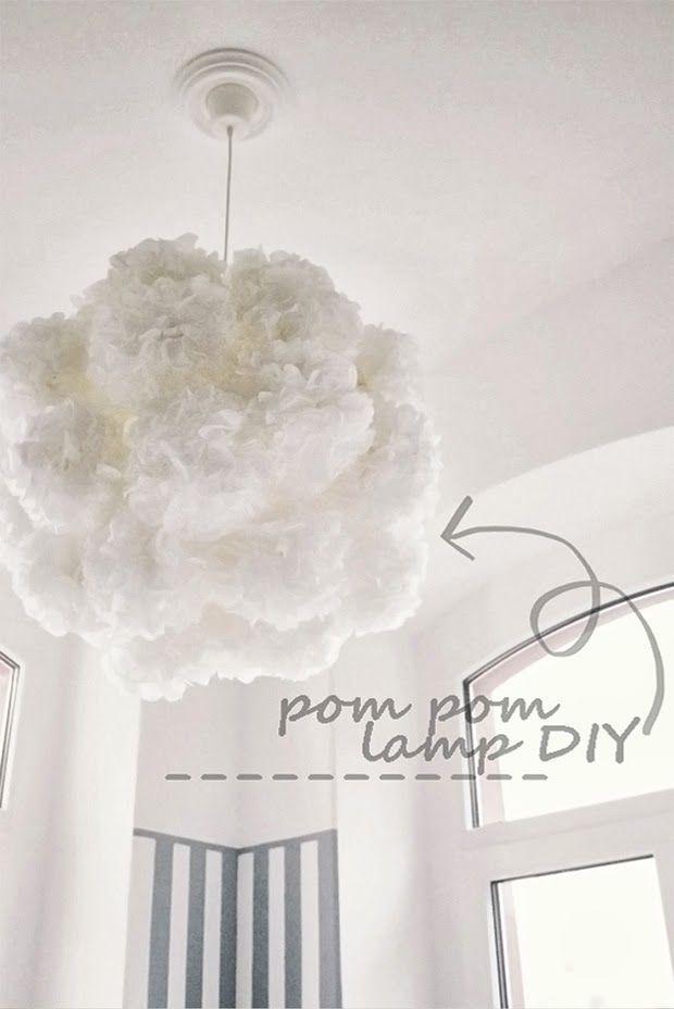 HOW TO: Pom Pom Lampe DIY | mydearlove | Bloglovin'