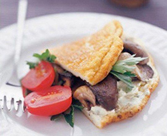 Mixed Mushroom Omelette | PHILADELPHIA #recipes