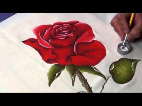 Como dominar el arte de la Pintura Decorativa en Tela (4/4) - YouTube