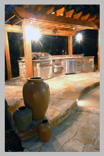 100 best images about outdoor kitchen on pinterest for Simple outdoor kitchen designs