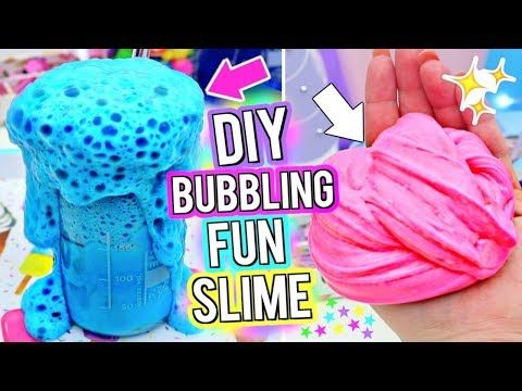 how to make bubbly edible slime