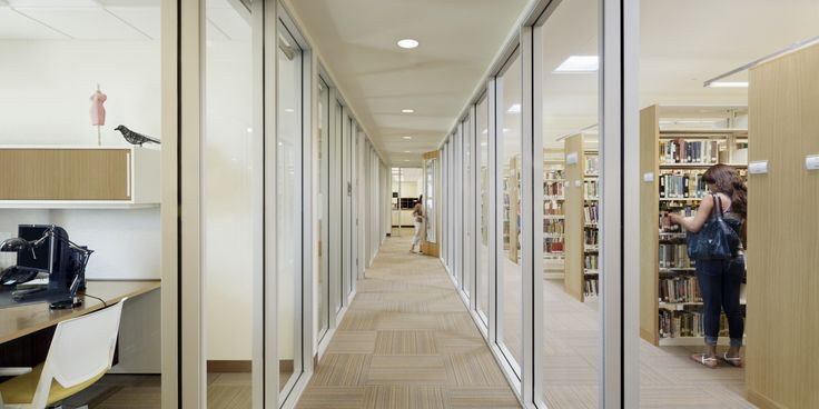 Librarian offices and hallway