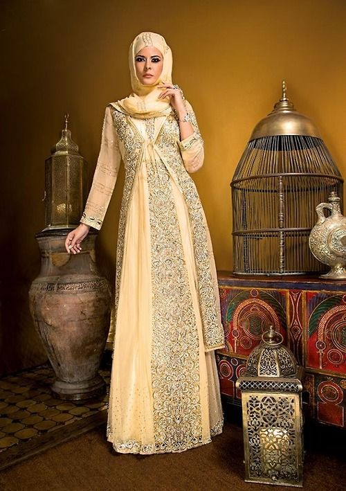 beautiful yellow dress/gown #hijab #hijabi