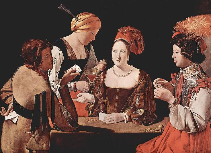 """The Card Sharps"", by Georges de La Tour, Musée du Louvre"