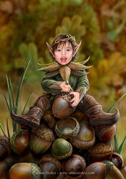 Enfant elfe des chênes