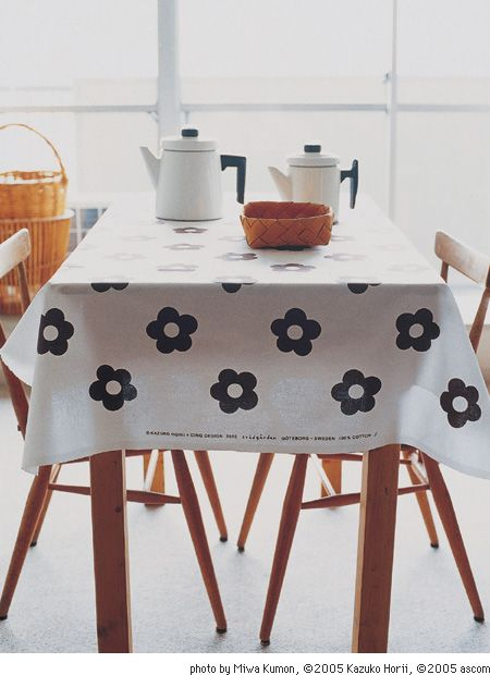 kettle basket tablecloth combo