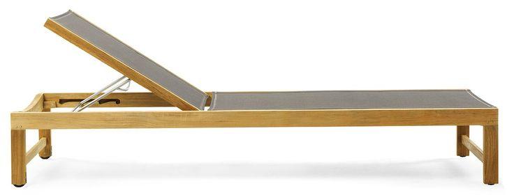 Sand sunbed ethitex & teak från Ethimo hos ConfidentLiving.se