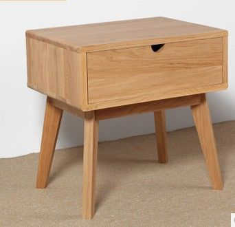 Japanese style furniture solid wood Nightstand,wood furniture,100% oak Nightstand,square table,Pastoral style,Bedroom Furniture(China (Mainl...