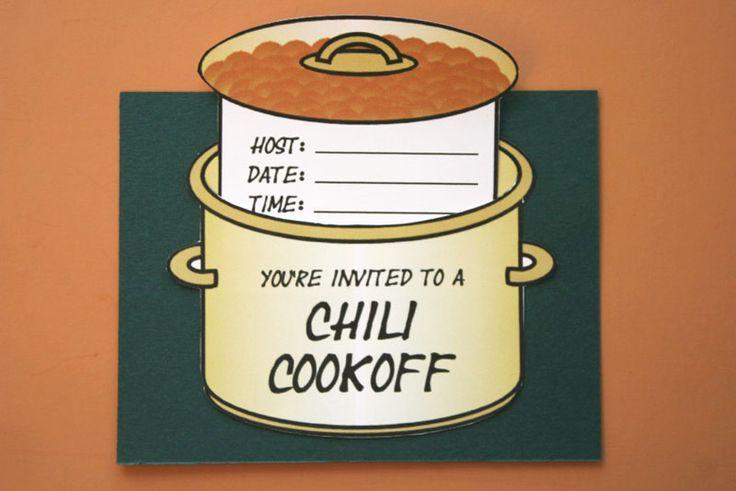 chili cookoff invitations