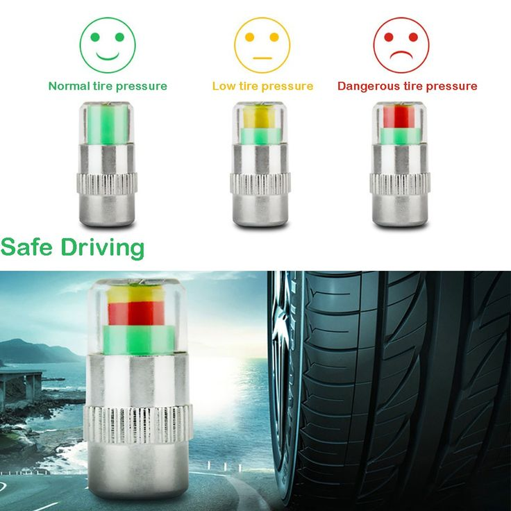 4PCS 2.0Bar 30PSI Car Auto Tire Pressure Monitor Valve Stem Caps Sensor Indicator Eye Alert Diagnostic Tools Kit