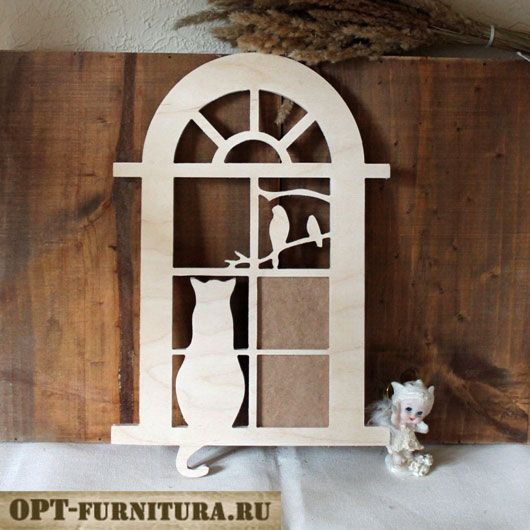 Фоторамка фигурная - заготовка Кошка на opt-furnitura.ru #кошка #фоторамка #cat #fotoframe #заготовкидлядекупажа