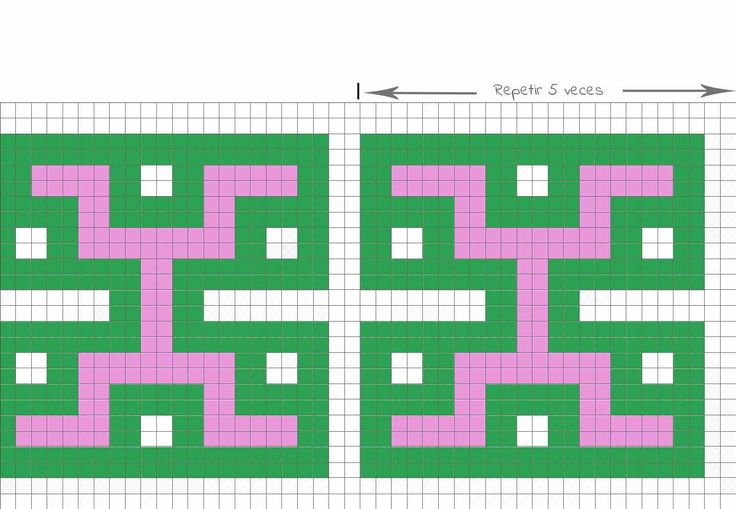 diagrama crochet bolsos de ganchillo azteca