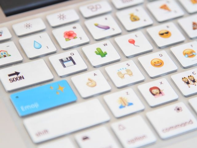 Silicone keyboard cover + magic software = your favorite emoji right beneath your fingertips!