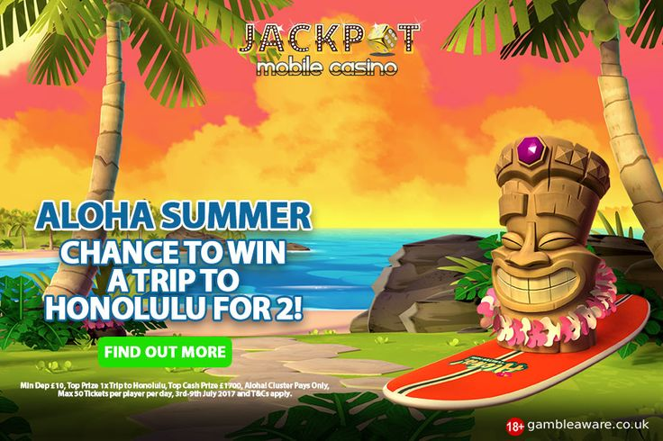 Win a holiday trip to Honolulu, Hawaii this Summer. Read to know more at Jackpot Mobile Casino #casino #London #UK