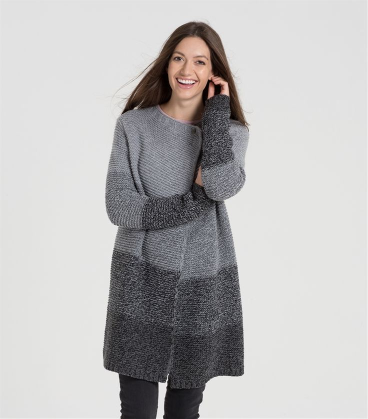 Womens Lambswool Ombre Wrap Cardi