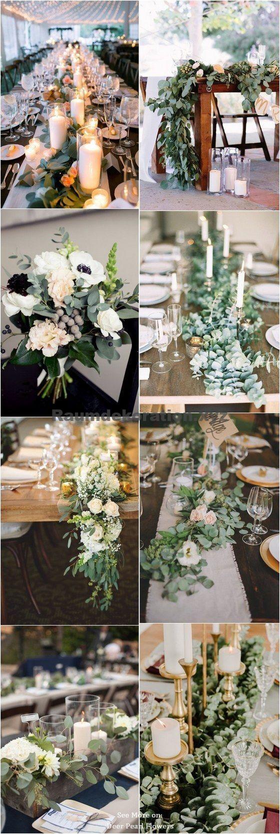 Tischdeko Hochzeit – 40 grüne Eukalyptus Hochzeitsdekor-Ideen