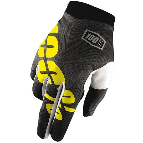 2016 100% iTrack Kids Motocross Gloves - Black Neon Yellow