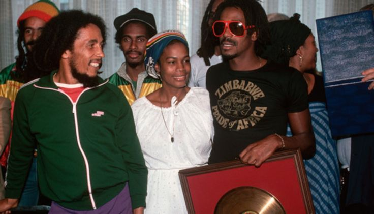 Bob Marley: Bob Marley and The Wailers were presented with a gold record for the successful sales of the 1980 album 'Uprising'.
