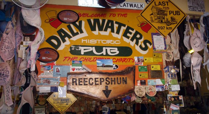 Visit the historic Daly Waters Pub in the Northern Territory. www.allthingsmeraki.com