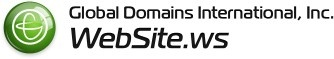 What is the .WS domain? .WS is a globally accessible top level domain that works just like .COM and .NET. Anyone, anywhere, can register a .WS domain and establish a personal internet address for life.  .WS is easy to remember; .WS is WebSite! Register a .WS domain today, and see why Global Domains International has been ranked in the top 50 of the Inc. 500 fastest growing companies.