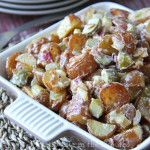Warm Potato Salad. This is a great served as a salad in the summer, or as a side dish for any time of the year!