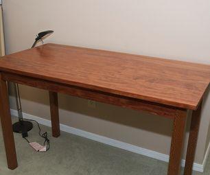 Bubinga and Lacewood shaker style Desk