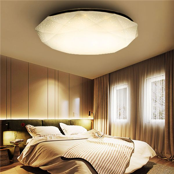 12w White Warm White Diamond Led Ceiling Light Mount Fixture Lamp