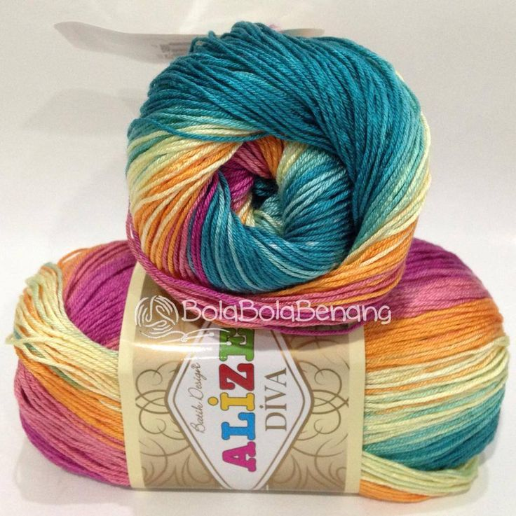 ALIZE DIVA BATIK 4572, Price: 90.000,-/gulung, Bahan: 100% Microfiber Akrilik, Berat/Panjang: 100gr/350m, Knitting Needles: 2,5mm – 3,5mm, Crochet Hook: 1mm - 3mm