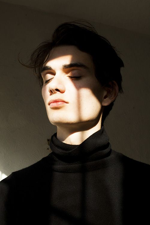 Jordan Fowler at Elite Models photographed by Sophie Mayanne. Styling by Hannah Beck. Jordan wears Polo neck jumper stylist's own. See the full series here