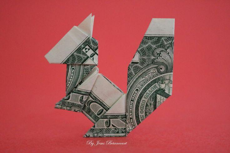 Money Origami Squirrel