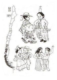 Bailes tradicionales de Chile en dibujos | conozcamos chile