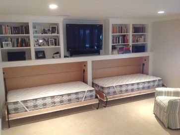 possible bedroom design for basement.. Cape Cod Basement Renovation - transitional - Basement - Boston - JW Construction