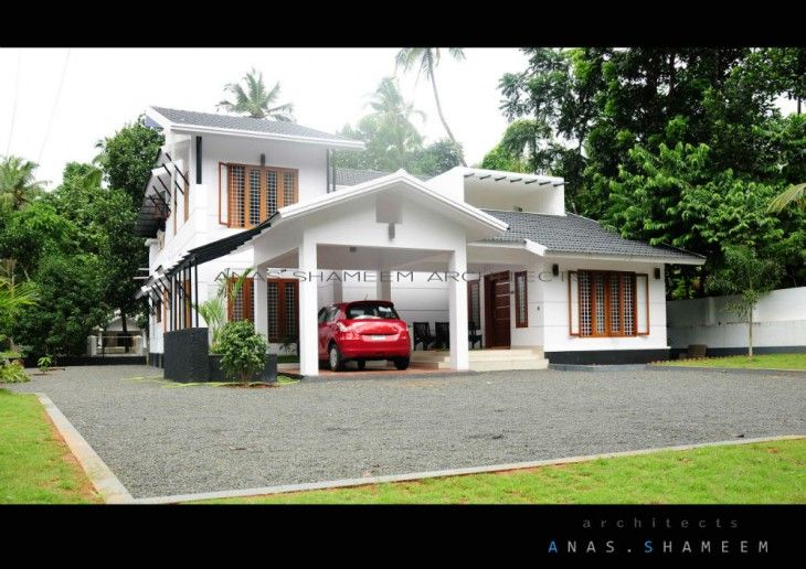 3000 sq ft kerala home design by anas shameem architects for Kerala elevation photos