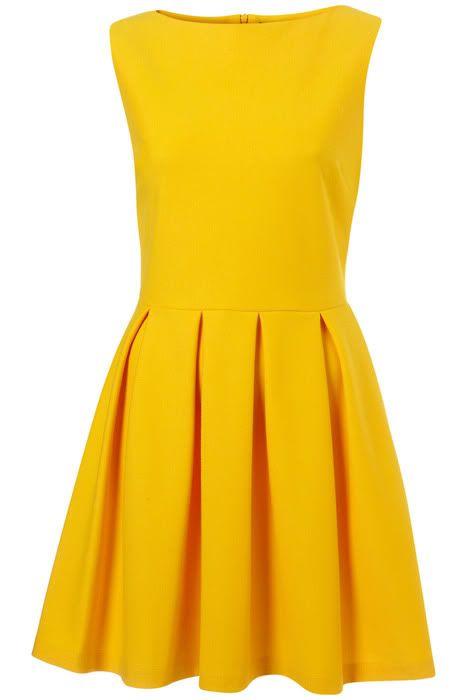 hello sunshine! pretty yellow dress: Dresses Clothing, Colors Dresses, Summer Dresses, Dresses Style, Yellow Dresses, Hello Sunshine, Happy Colors, Skater Dresses, Cute Bridesmaid Dresses