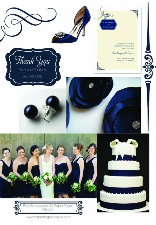 Wedding Inspiration Board - Navy Blue