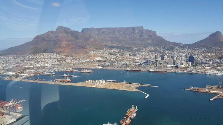 Arial view of Table Mountain