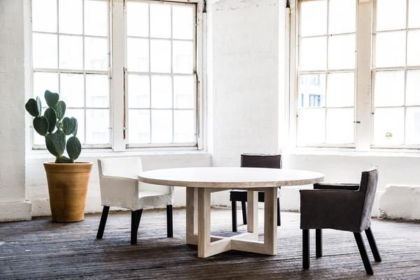 Round Dining Table available in 1200, 1500 & 1800 MM Diameter and featuring a solid timber construction. Finishes can be Raw or one of MCM House's signature natural and durable seals.
