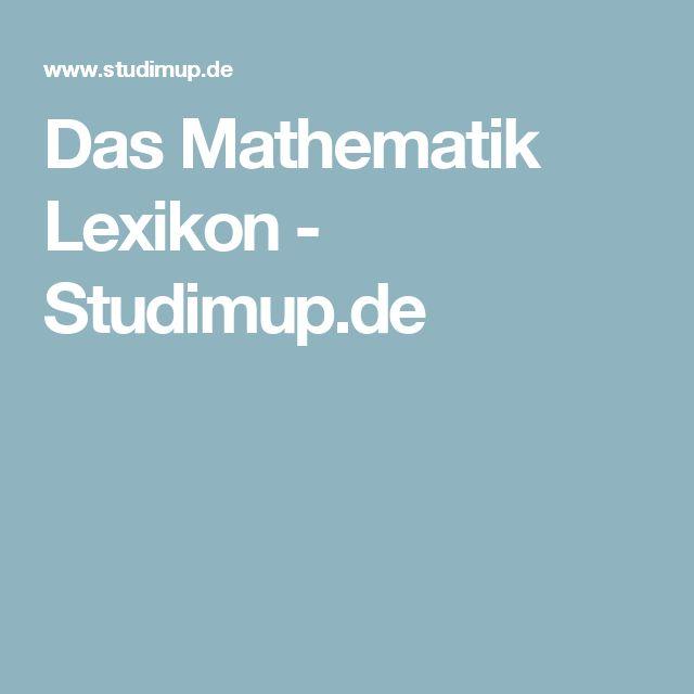 Das Mathematik Lexikon - Studimup.de
