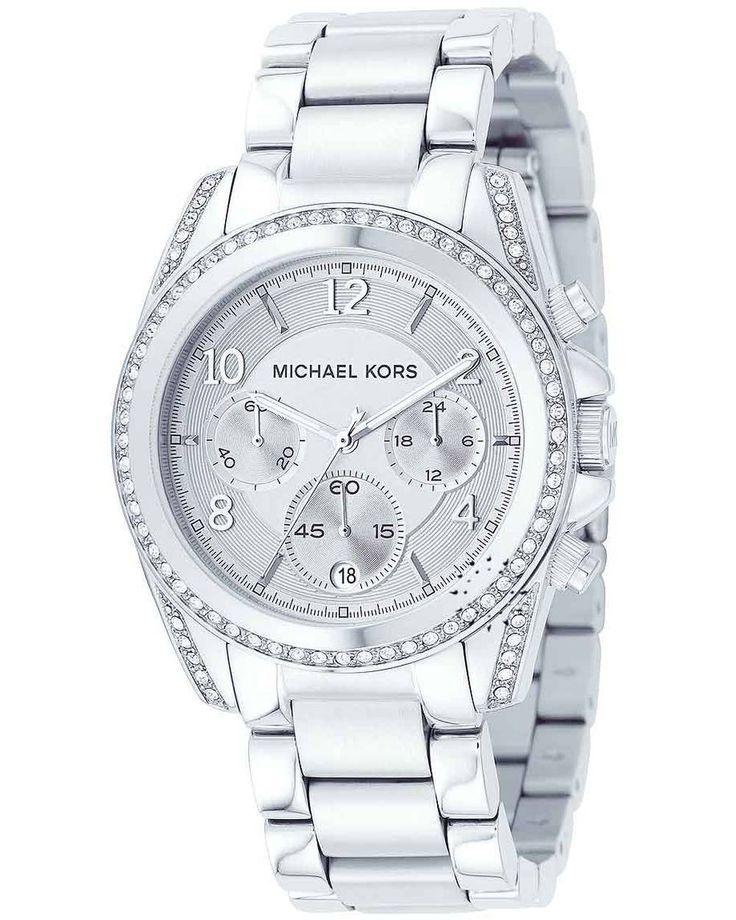 Michael KORS Chronograph Stainless Steel Bracelet Crystal Ladies