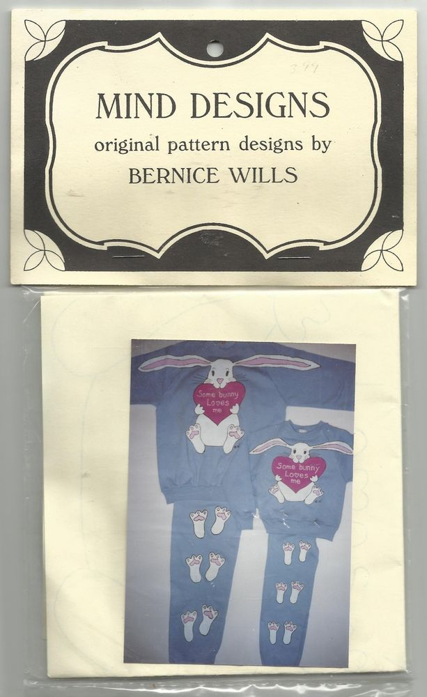 Bunny Love Mind Designs Sewing Pattern Easter Holiday Rabbits Footprints 2-Adult #MindDesigns