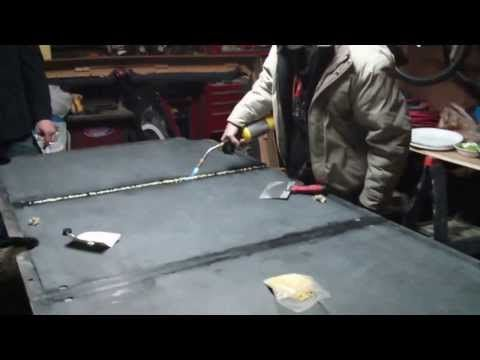 How to apply bees wax to your slate pool table. - http://pooltabletoday.com/how-to-apply-bees-wax-to-your-slate-pool-table/