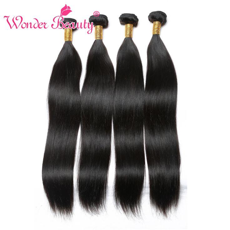 ペルーバージンストレート人間の髪織り4ピースロットペルーストレート髪バンドルナチュラルブラックエクステンション100グラム/ピース8-30インチ