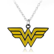 Fashion Movie Superhero Series Wonder Woman Torque Alloy The Winner Acronym W Logo Necklace pendant Gifts for Lovers Accessories(China (Mainland))