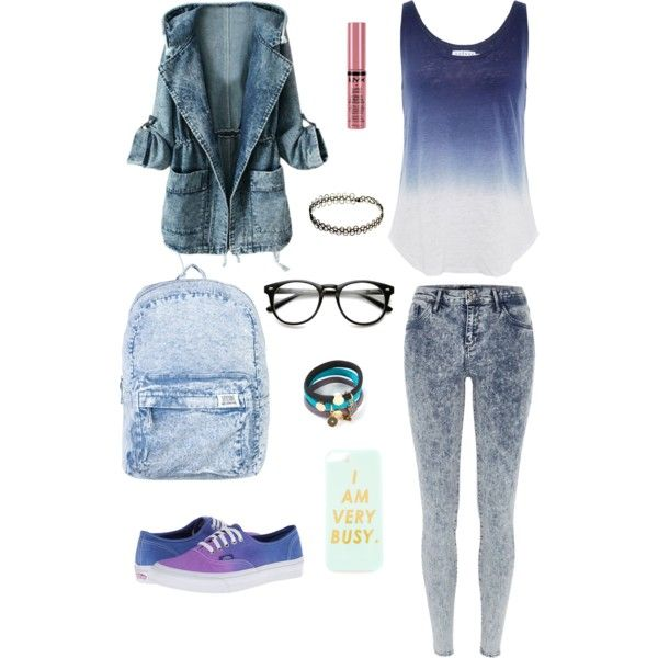 Very classy, casual, denim outfit perfect for school in cloudy days or just hang out.