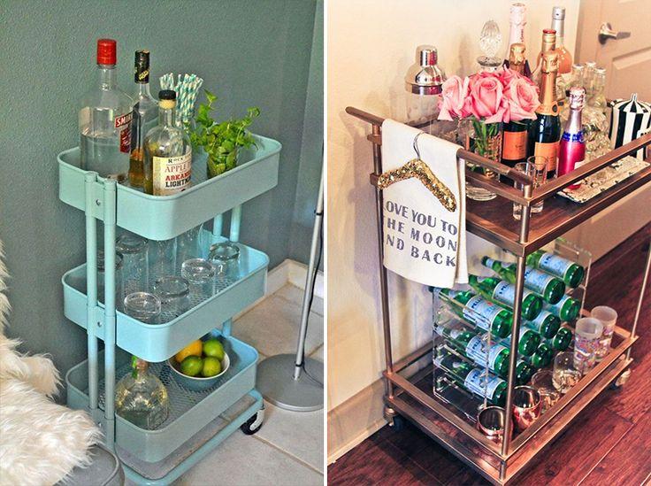 Dicas e inspirações para montar um mini bar em casa